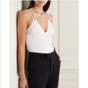 NWT Dion Lee Layered Rib Knit Camisole